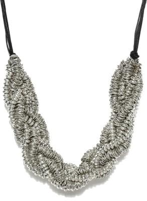 Anouk Enamel Plated Metal Necklace at flipkart