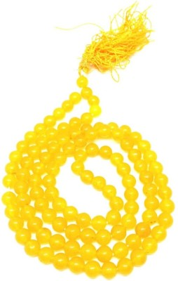 Holy Krishna Energized Yellow Jade Mala Jade Silk Dori Chain at flipkart
