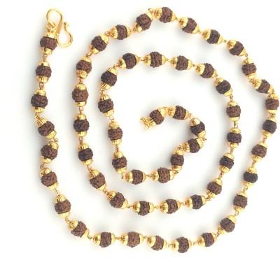 Seeyara golden thread rudraksh 21K Yellow Gold Plated Brass Chain at flipkart