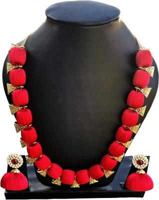 Jyotis Creations Silk Dori Necklace Set at flipkart