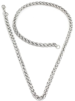 Saizen CH065 Series 1 Collection for Men and Boys Rhodium Plated Stainless Steel Chain at flipkart