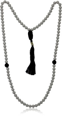 Mahi Grey Tasbih with 99 Beads Swarovski Crystal Alloy Necklace at flipkart