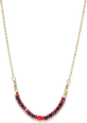 Anouk Beads Enamel Plated Metal Necklace at flipkart