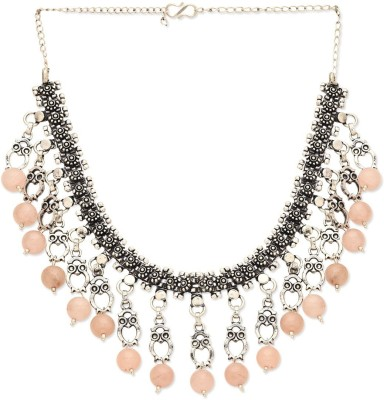 La Boemo Tribal Ethnic Bohemian Gypsy Dew Drops Sterling Silver Plated Metal Necklace at flipkart
