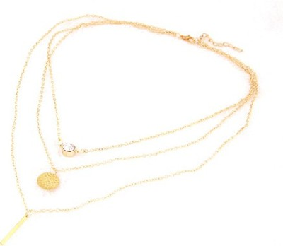 Joovaa Trendy Yellow Gold Plated Alloy Necklace at flipkart