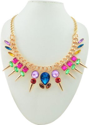 Diovanni Metal, Alloy, Zinc, Crystal Necklace at flipkart