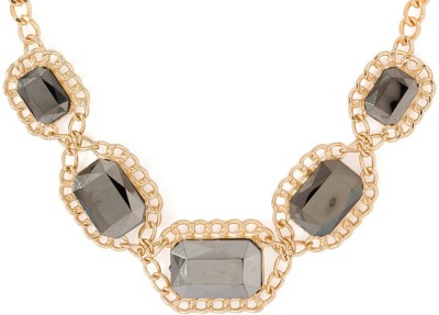 efc8a352020cc 54% OFF on Voylla Artificial Classic Textured Cubic Zirconia Rose Gold  Plated Alloy Necklace on Flipkart