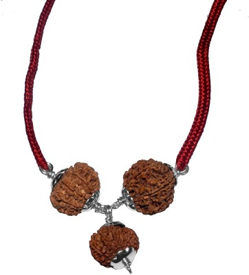 Navkaar Creation Rudraksha Combination For Creativity 4,6,8 Mukhi Java Certified Silk Dori Necklace at flipkart