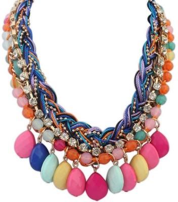 Aaishwarya Colourful Envy Bib Alloy Necklace at flipkart