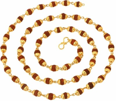 Jewels Galaxy Rudraksha Mala Copper Plated Copper Chain at flipkart