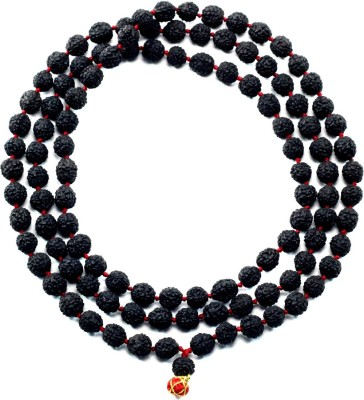 RGL ORIGINAL Rudraksha Mala 6MM (Black) Silk Dori Necklace at flipkart