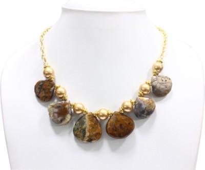 Eighth Fold Quartz Brass Plated Alloy Necklace at flipkart