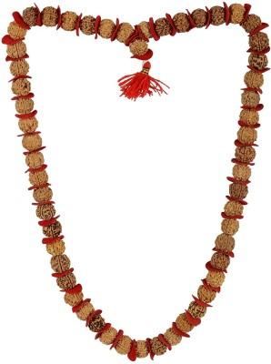 Jaipur Gems And Handicrafts Handmade Designer Natural Panchmukhi 5 Face Rudraksha 54+1 Beads Prayer Rosary Jaap Mala Wood Necklace at flipkart