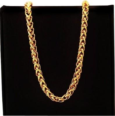 Magic 22K Yellow Gold Plated Brass Chain at flipkart