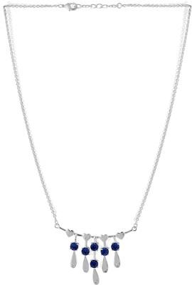 Voylla Precious Love Plain Swarovski Crystal Silver Plated Alloy Necklace at flipkart