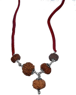 Navkaar Creation Rudraksha Combination For Highly Competitive Exam 4,6,8,9,16 Mukhi Java Lab Certified Silk Dori Necklace at flipkart