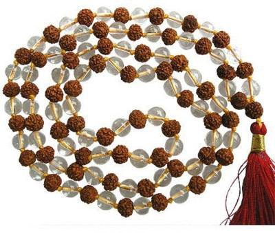 Shiv Shakti Rudraksha-Sphatik Mala Wood Chain at flipkart