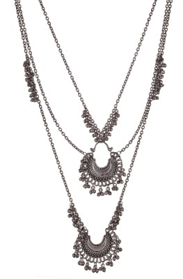 Zephyrr Zephyrr Fashion Turkish Style Beaded Long Double Pendant Necklace for Women Boho Alloy Necklace at flipkart