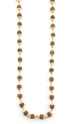 JH jewellery golden thread rudraksh 21K Yellow Gold Plated Brass Chain at flipkart