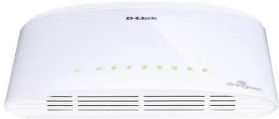 D-Link 8-Port 10/100/1000 Desktop Switch Network Switch(White)