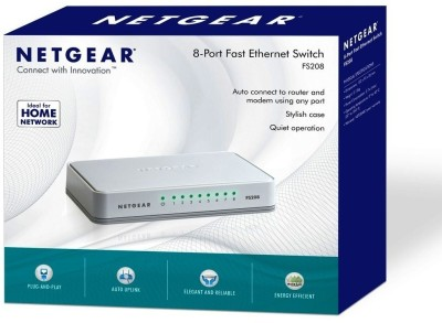 Netgear 8-Port Fast Ethernet FS208 Unmanaged Network Switch