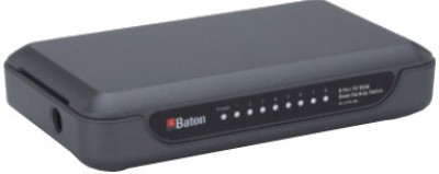 iBall 8-Port 10/100M Green Desktop Switch Network Switch(Black)
