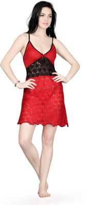 Bombshell Women's Nighty with Robe(Red)