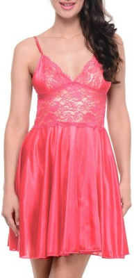 Klamotten Women Nighty with Robe(Pink)