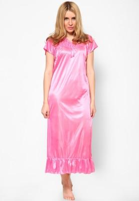 2b55e8f5cab 64% OFF on Boosah Women Nighty(Pink) on Flipkart