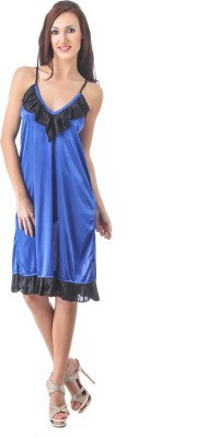 Fasense Women Nighty(Dark Blue, Black) at flipkart