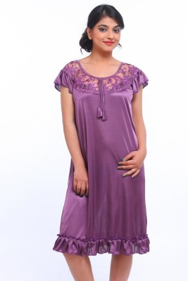 Fasense Women Nighty(Purple)
