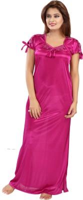 Rangmor Women Nighty(Pink)