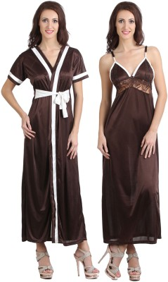 Fasense Women Nighty(Brown) at flipkart