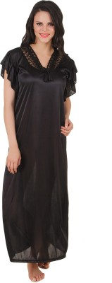 Fasense Women Nighty(Black) at flipkart