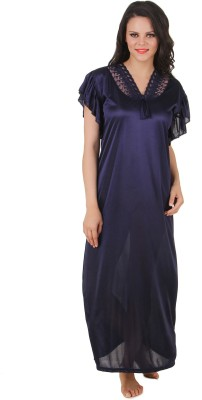Fasense Women Nighty(Blue) at flipkart