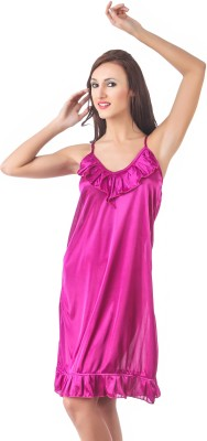 Fasense Women Nighty(Pink) at flipkart
