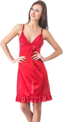 Fasense Women Nighty(Red) at flipkart
