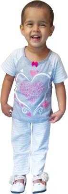 Instyle Kids Nightwear Girls Striped, Solid Cotton