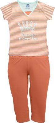 Kothari Kids Nightwear Girls Printed Cotton Blend