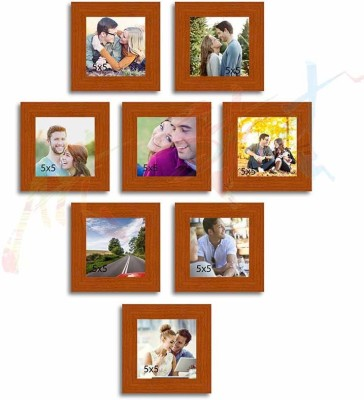 Painting Mantra Glass Photo Frame(Brown, 8 Photos) at flipkart