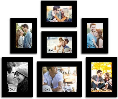 Painting Mantra MDF Photo Frame(Black, 7 Photos) at flipkart