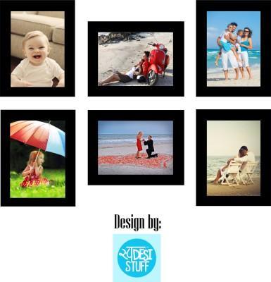Desi Frames MDF Photo Frame(Black, 6 Photos)