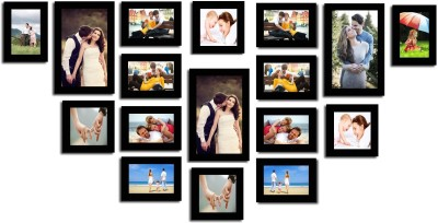 Swadesi Stuff MDF Photo Frame(Black, 17 Photos) at flipkart