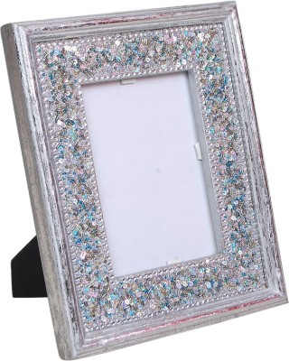 Wood Beauty Wood Photo Frame(Silver, 1 Photos)