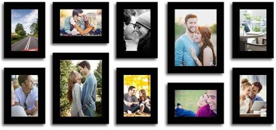 Painting Mantra Glass Photo Frame(Black, 10 Photos) at flipkart