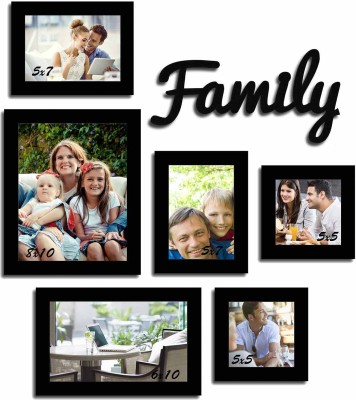 Art Street Generic Photo Frame(Black, 6 Photos) at flipkart