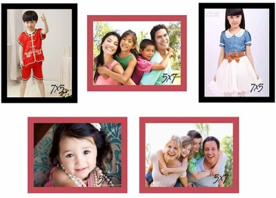 Painting Mantra Glass Photo Frame(Red, Black, 5 Photos) at flipkart