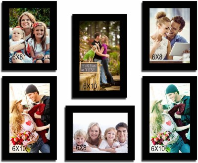 Painting Mantra Glass Photo Frame(Black, 6 Photos) at flipkart