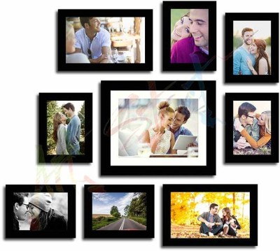 Painting Mantra Glass Photo Frame(Black, 9 Photos) at flipkart