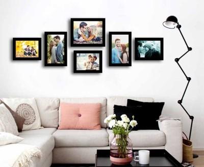Painting Mantra Generic Photo Frame(Black, 6 Photos)